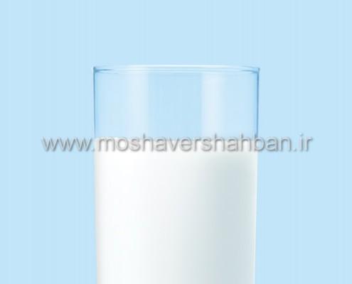 بهای یک لیوان شیر